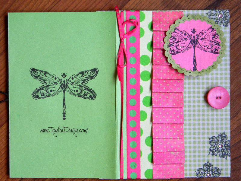 notebook cover front and back green
