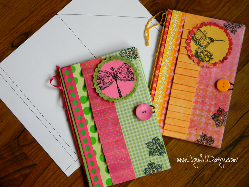 Notebook Cover Pattern ~ Paper notebook cover tutorial template joyful daisy
