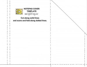 picture of notebook cover template