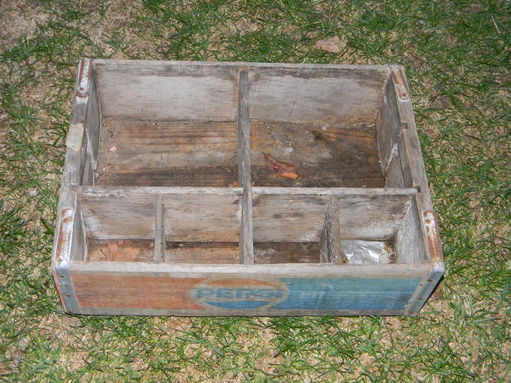 trash to treasure, pepsi crate to shelf
