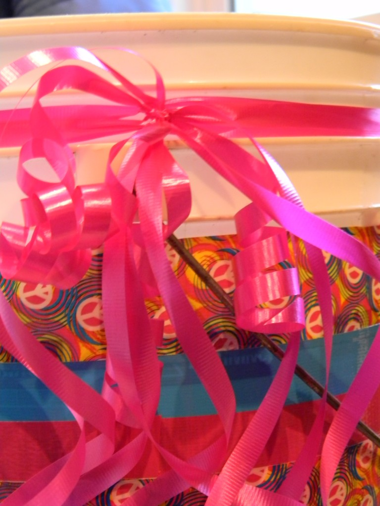 duck tape wrapping paper organizer