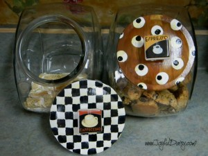 Mackenzie Childs Inspired Cookie Jars and lids
