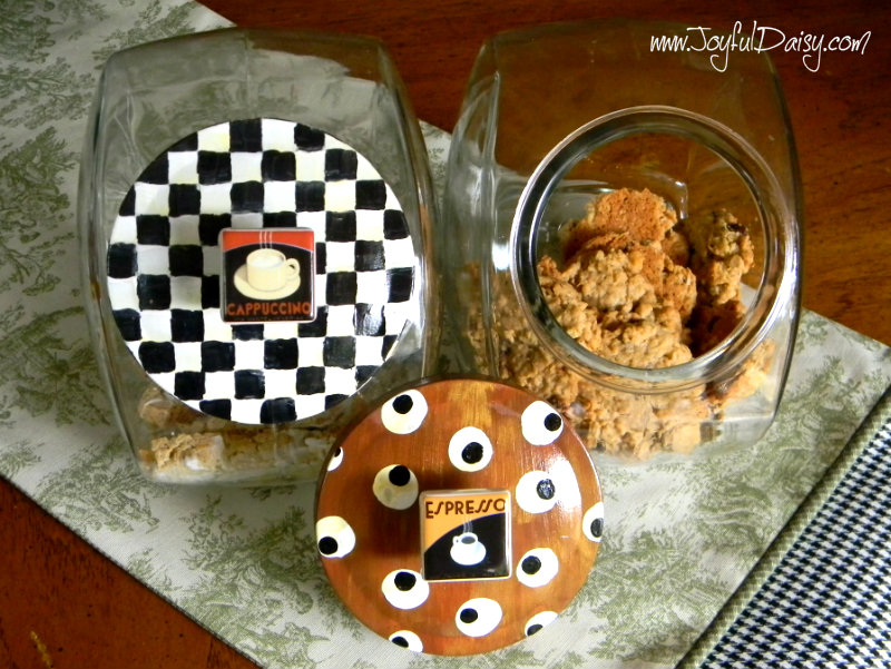 Mackenzie Childs Inspired Cookie Jars and lids2