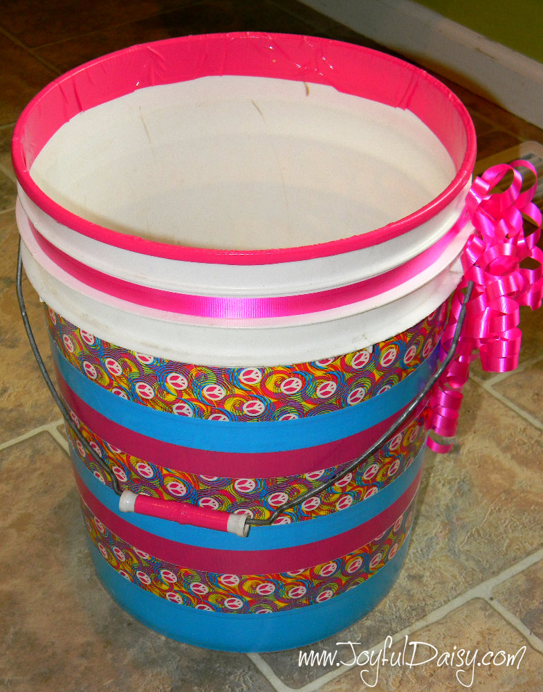 duck tape crafts and organization wrapping paper bin finished empty