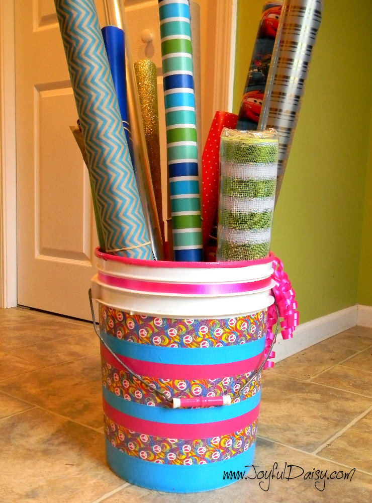 Duck Tape Crafts And Organization Wrapping Paper Bin Finished