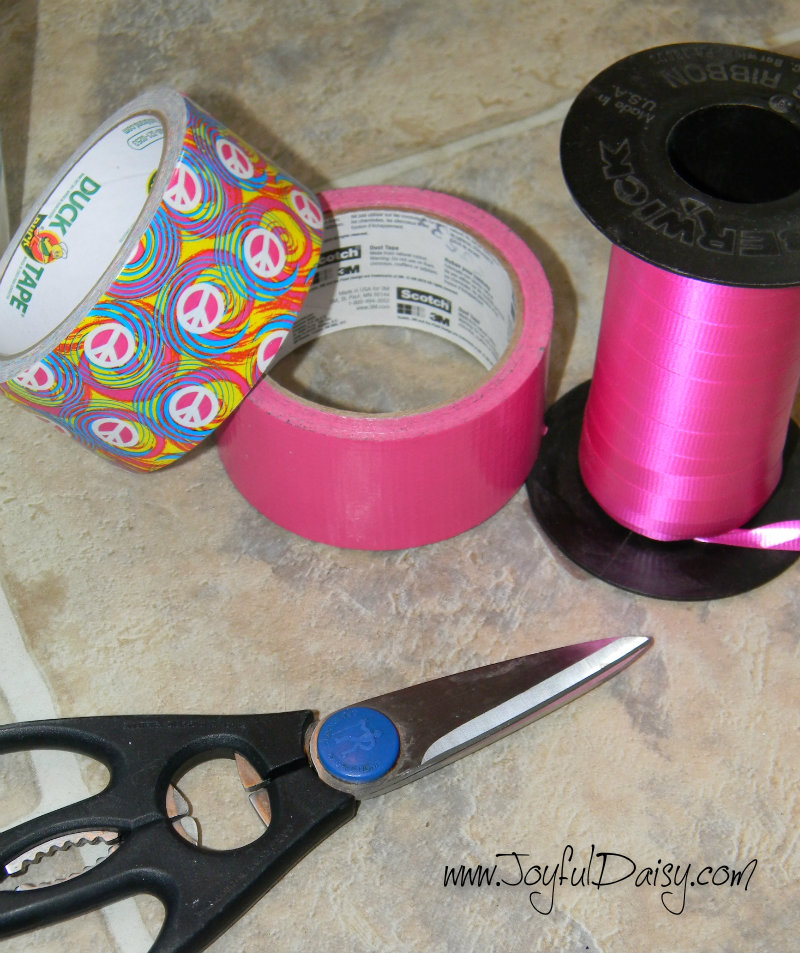 duck tape crafts and organization wrapping paper bin supplies