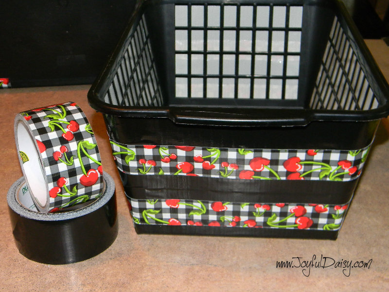 duck tape crafts- bins