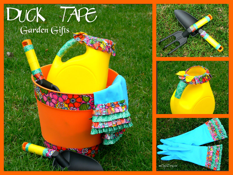 duck tape garden gifts collage