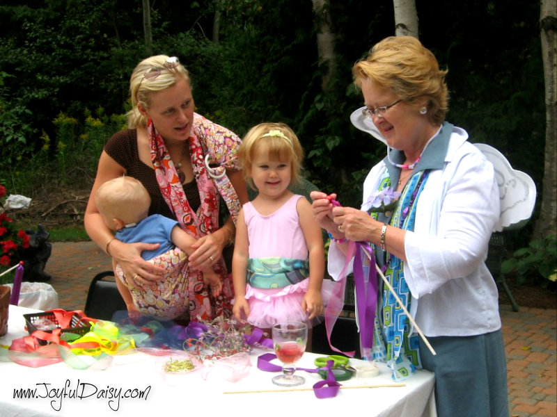 fairy party activity - wand making