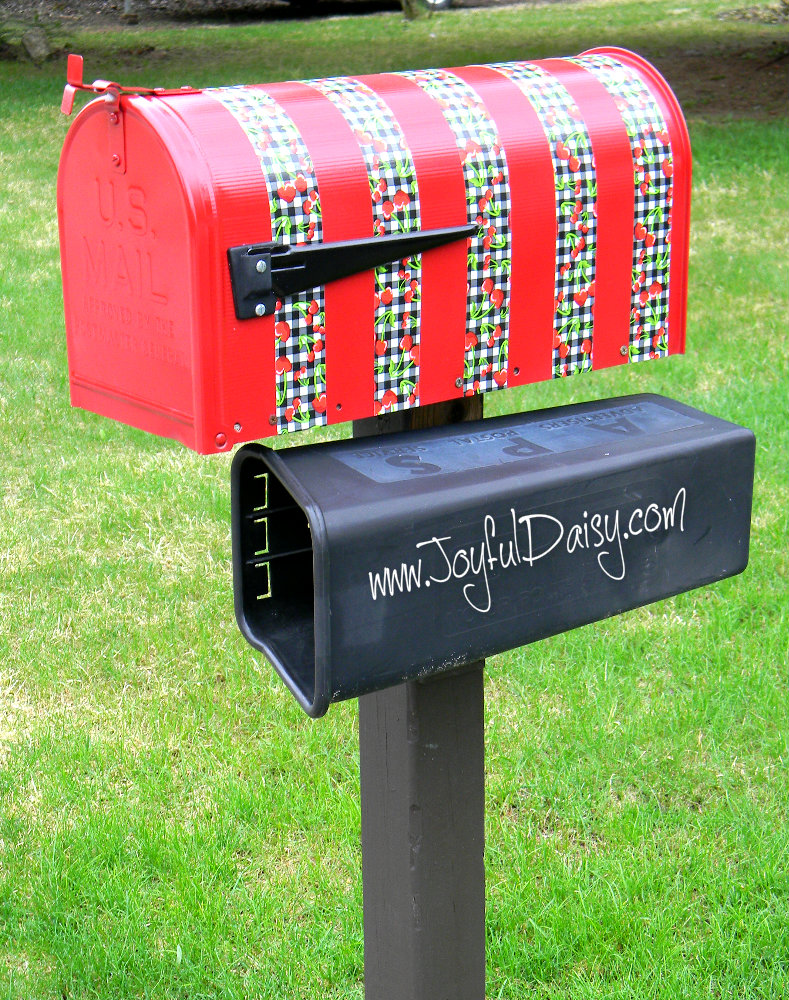 mailbox makeover with duck tape 2