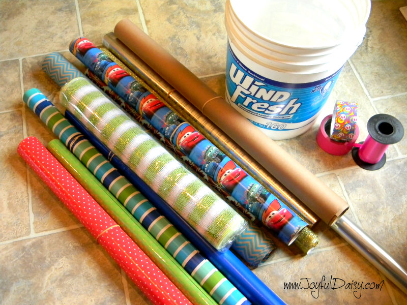 simple wrapping paper organization