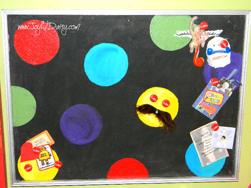 bulletin board makeover closeup