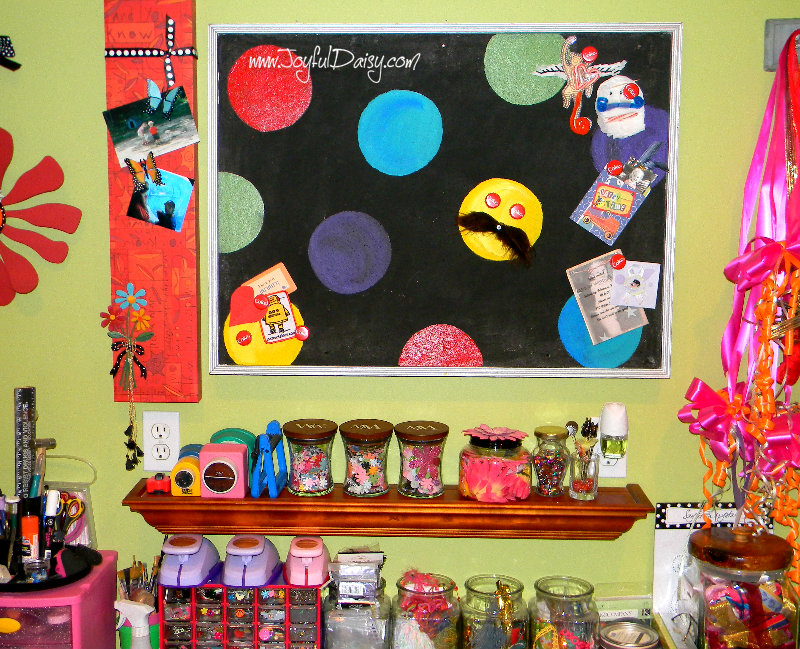 craft room bulletin board makeover overview