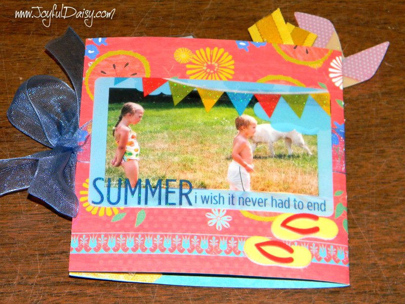 mini scrapbook card back cover