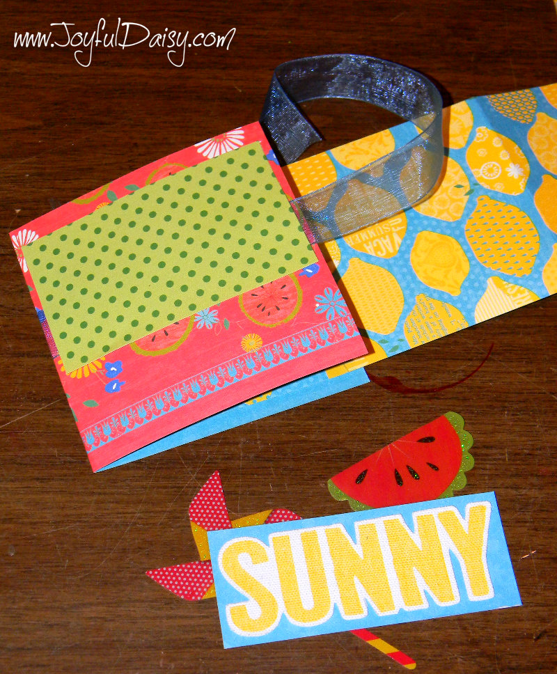 mini scrapbook card front cover pieces