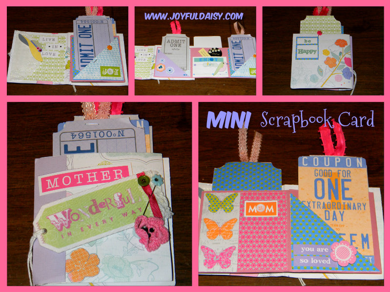 mini scrapbook card mother's day