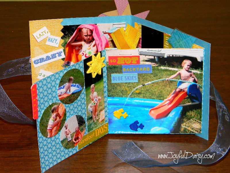 mini scrapbook card open and up 2