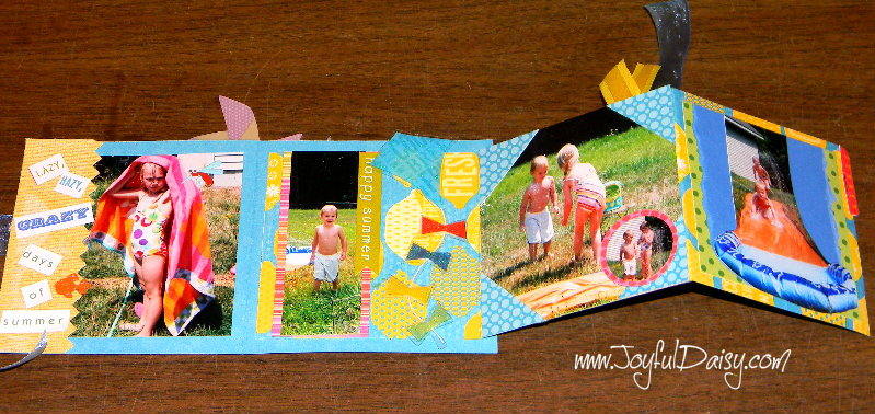 mini scrapbook card open