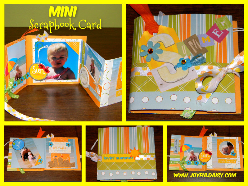 mini scrapbook card summertime