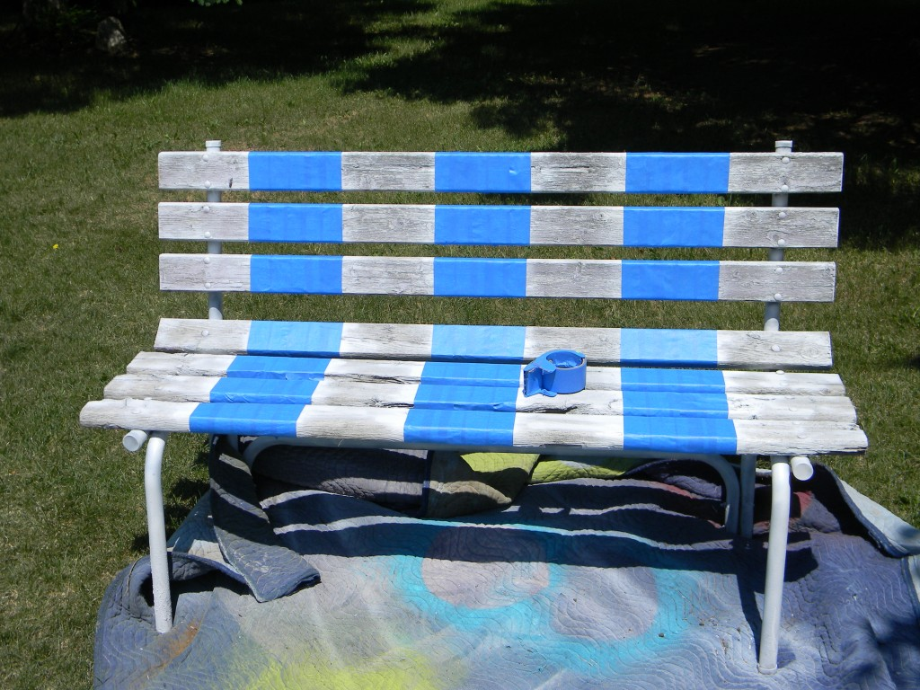 striping a bench