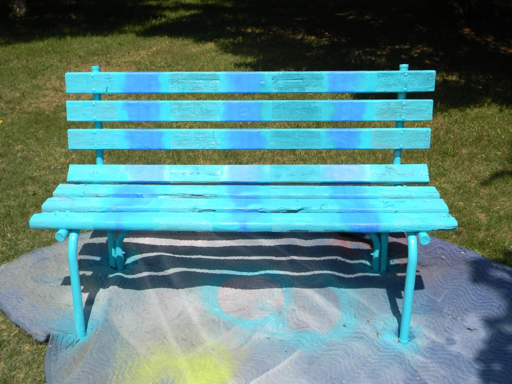 painting a bench