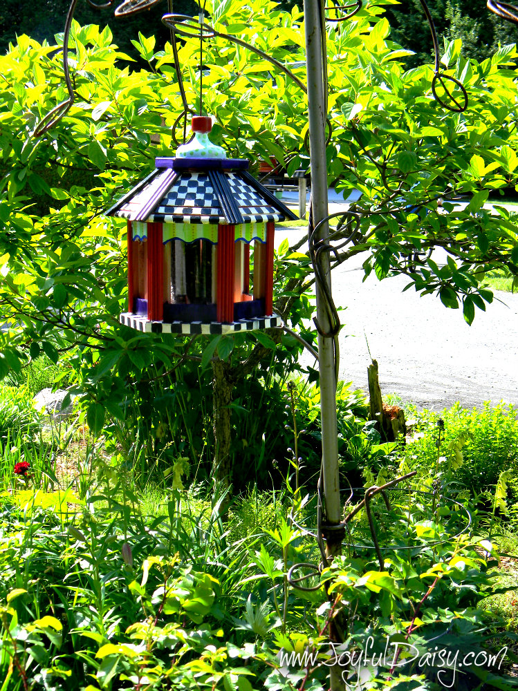 Knock off Mackenzie Childs Bird Feeder in Garden