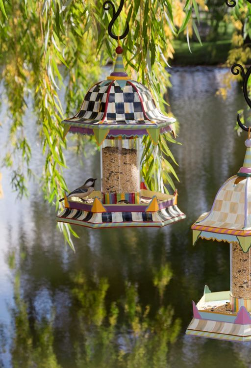 Mackenzie Childs Bird Feeder Close up