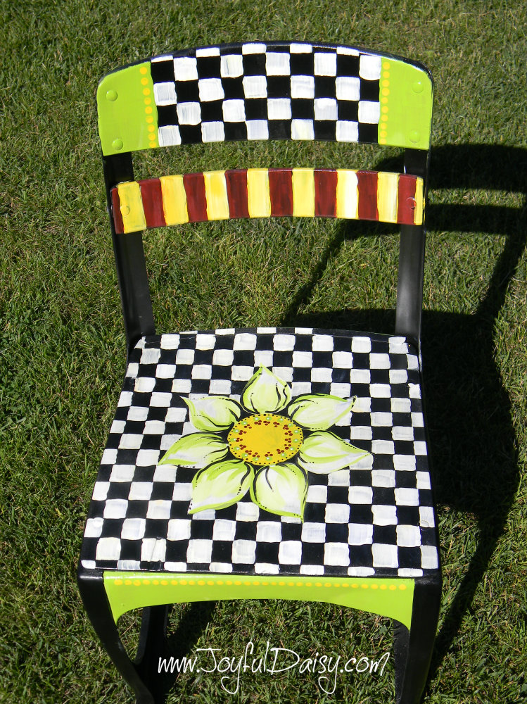 Mackenzie Childs Knock Off Chair Checkerboard & KNOCK OFF MACKENZIE CHILDS CHAIR - JOYFUL DAISY