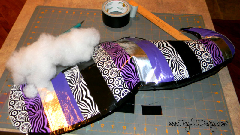 no sew mustache duck tape pillow