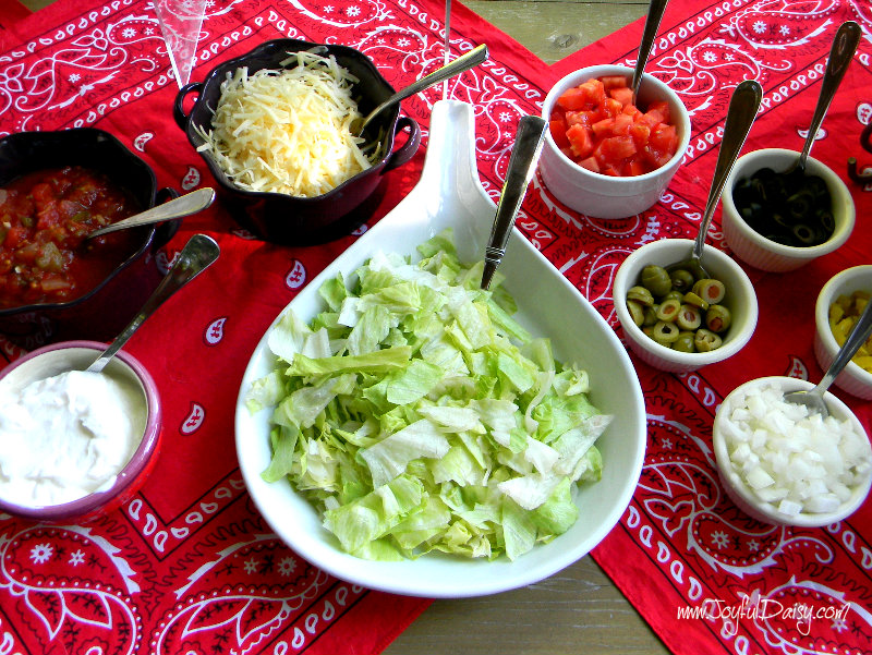 taco bar toppings
