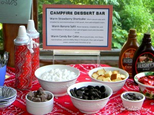 CAMP FIRE DESSERT BAR
