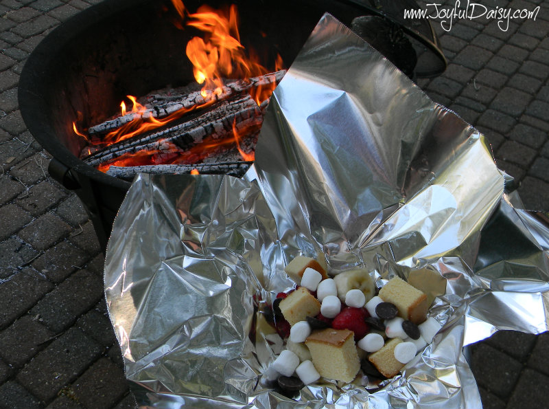 campfire dessert bar precooked and fire