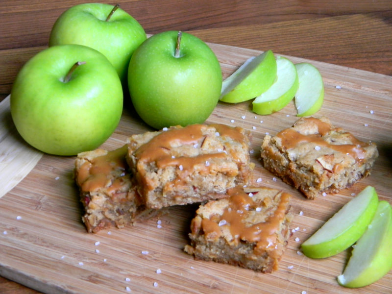 caramel apple blondies 2