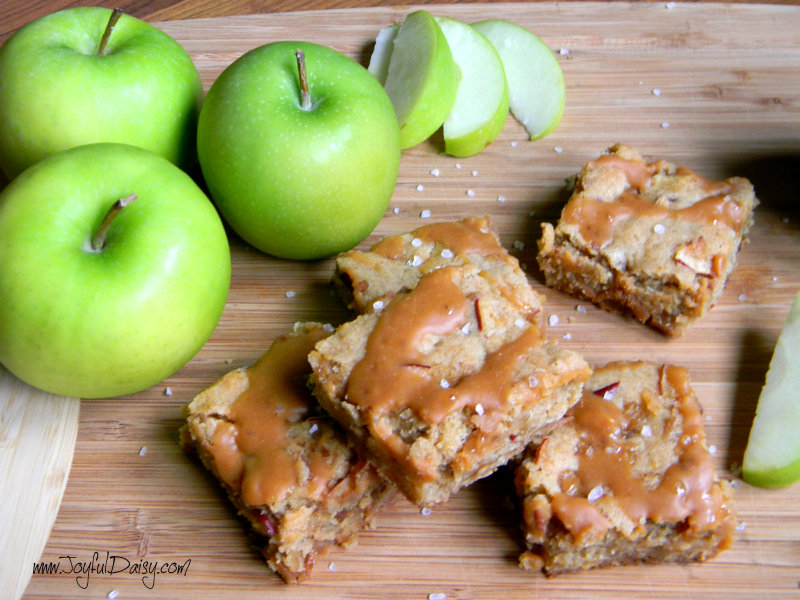caramel apple blondies fall favorite