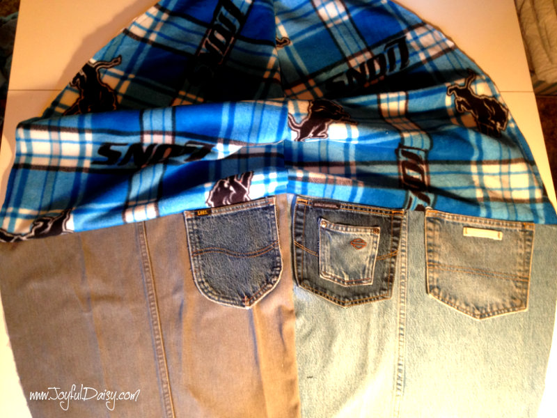 how to make a bean bag out of fleece and recycled jeans