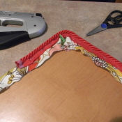 adding decorative trim to seat cushions