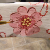 flowers painted on furniture