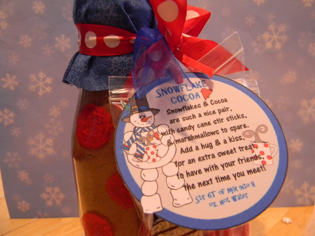 Hot chocolate  gift labels