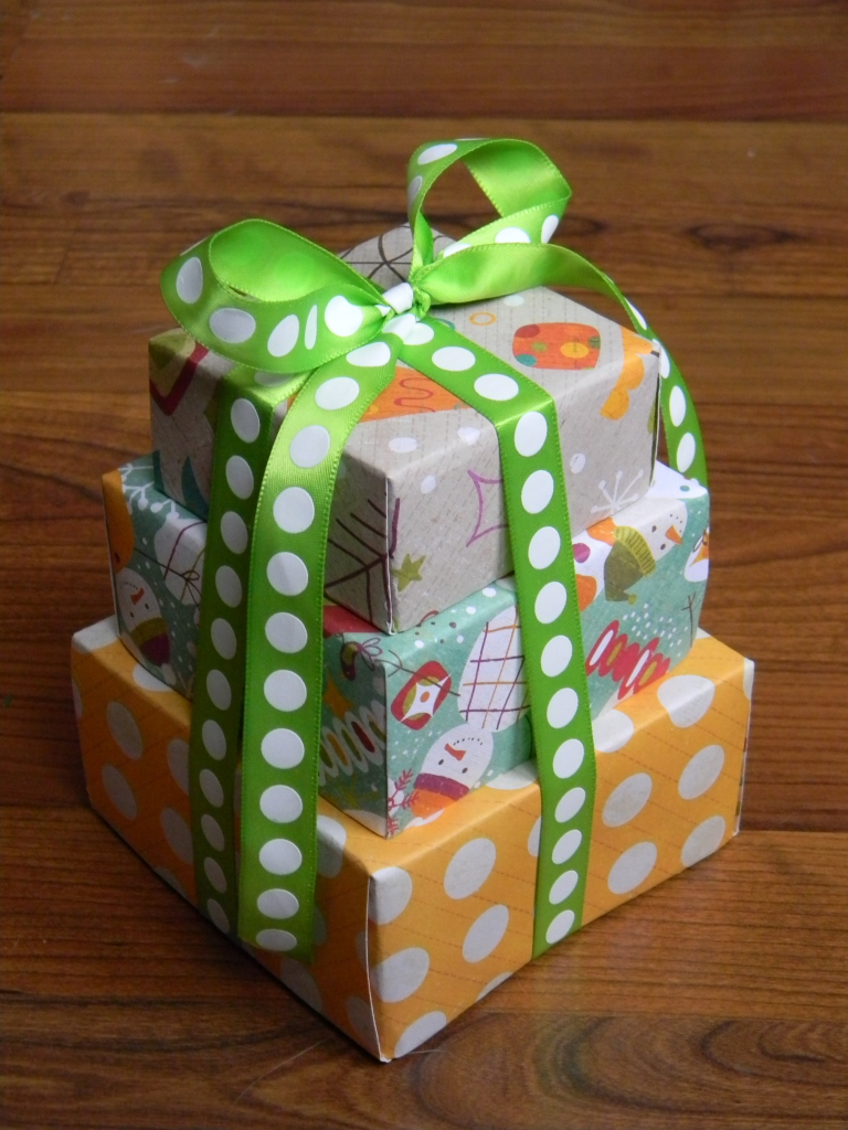 homemade gift tower boxes
