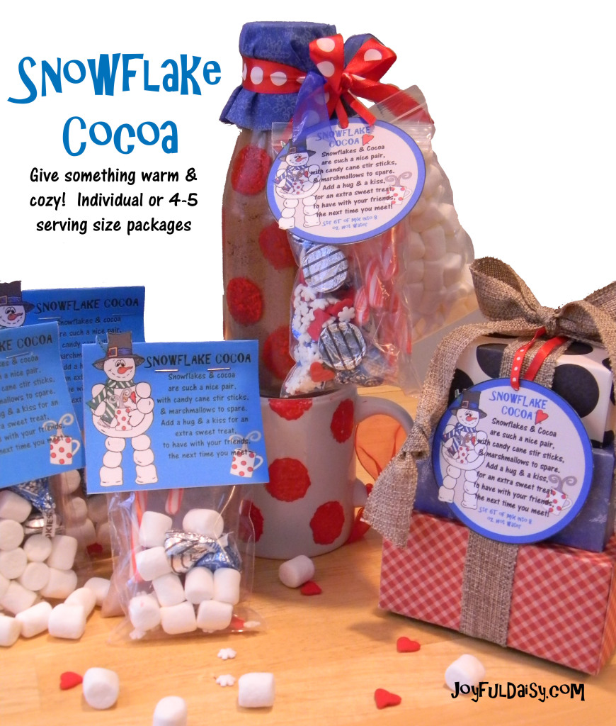 Snowflake Cocoa Handmade Gifts and Packaging