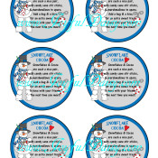 Snowflake Cocoa Round Labels 6 Per Page WATERMARKED