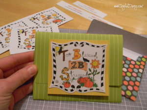 Thanksgiving gift card and holder