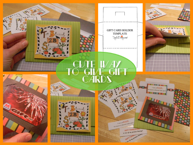 gift card holder and samples collage