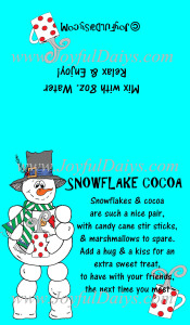 snowflake cocoa label IN COLOR WATERMARKED