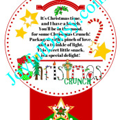 Christmas Crunch Red and green sash tag2WATERMARKED