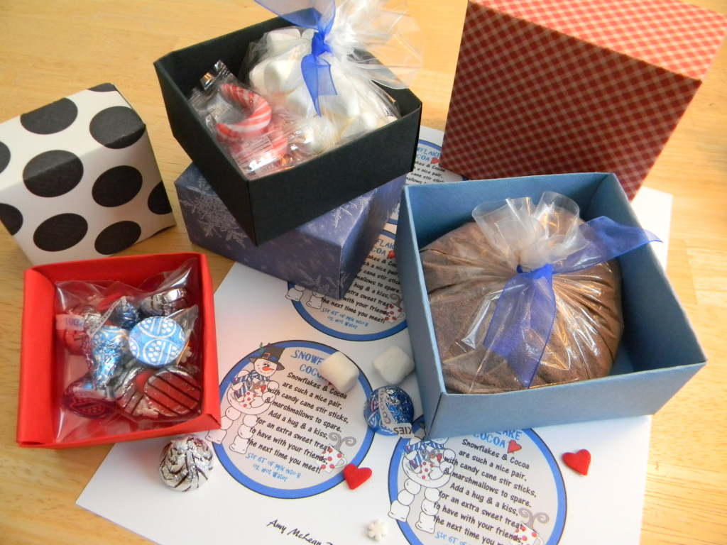 Packaging hot chocolate for gifts