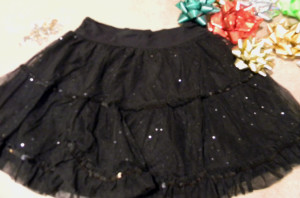 bow skirt before picture