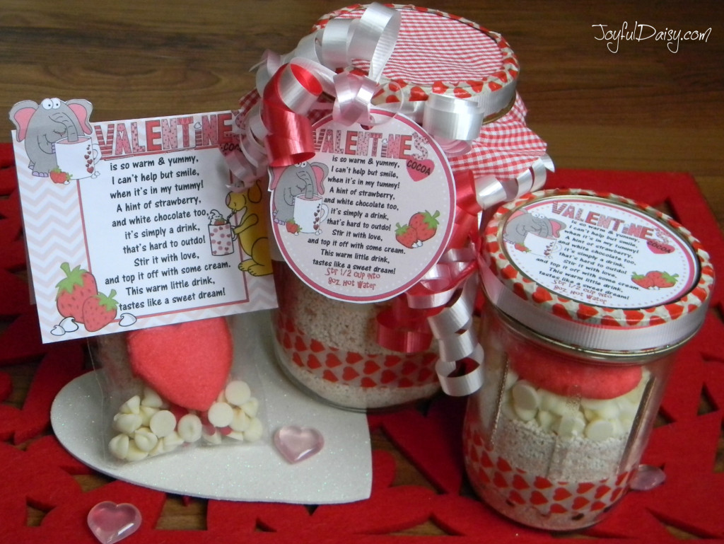 Valentines Cocoa Mix and Poem Tags and Labels