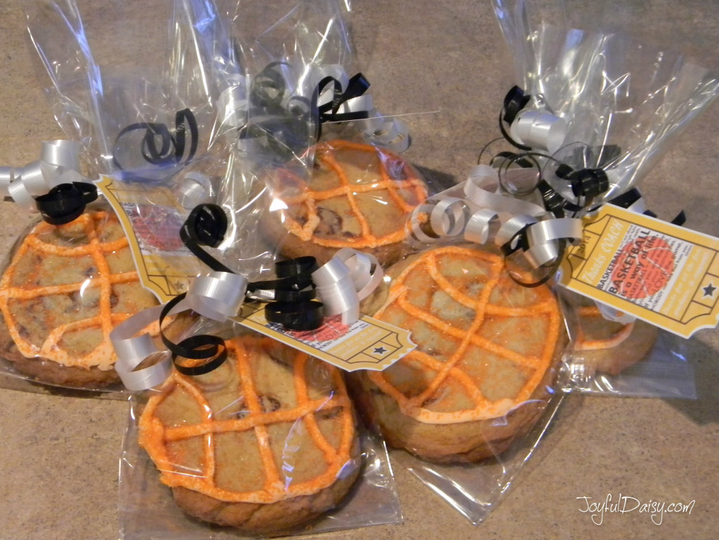 basketball cookie party favors