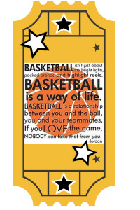 basketball ticket gift tags